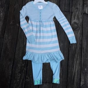 Justice Knit Dress and Legging Set Girl Size 10